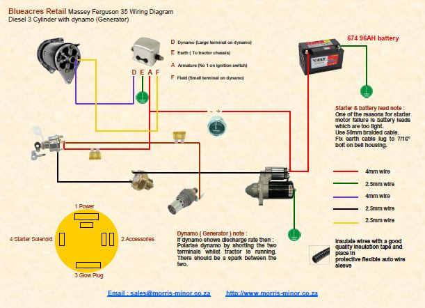 wiring diagram for ferguson to 35 tractor
