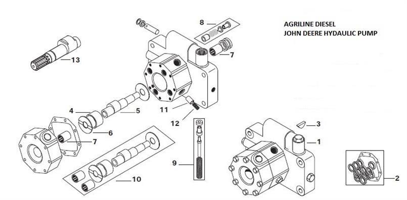 john deere hydraulic lift parts
